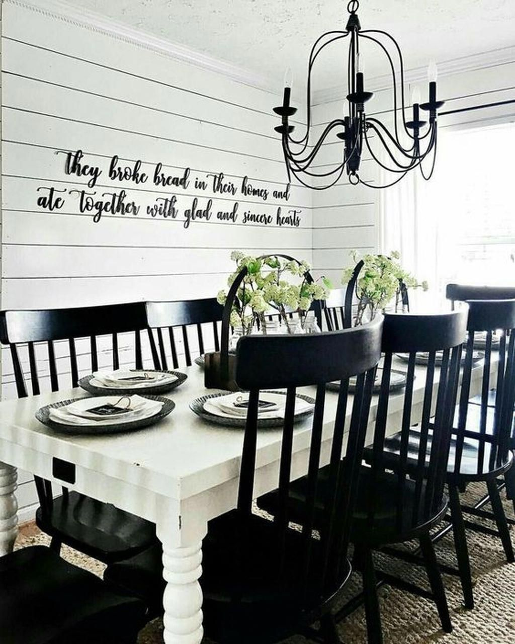 32 Elegant Ideas For Dining Rooms: 32 Elegant White Farmhouse Dining Table Ideas Best For