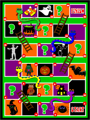 HALLOWEEN SNAKES AND LADDERS   Halloween games, Games, Fun ...