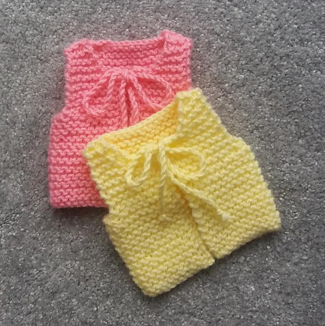 Preemie Garter Vest | Baby knitting patterns, Baby ...