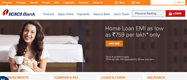 Icici Bank Online And Internet Banking Icici Bank Banking Online Banking