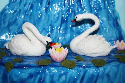 Las Tartas de Paz : Tarta Lago de los Cisnes.