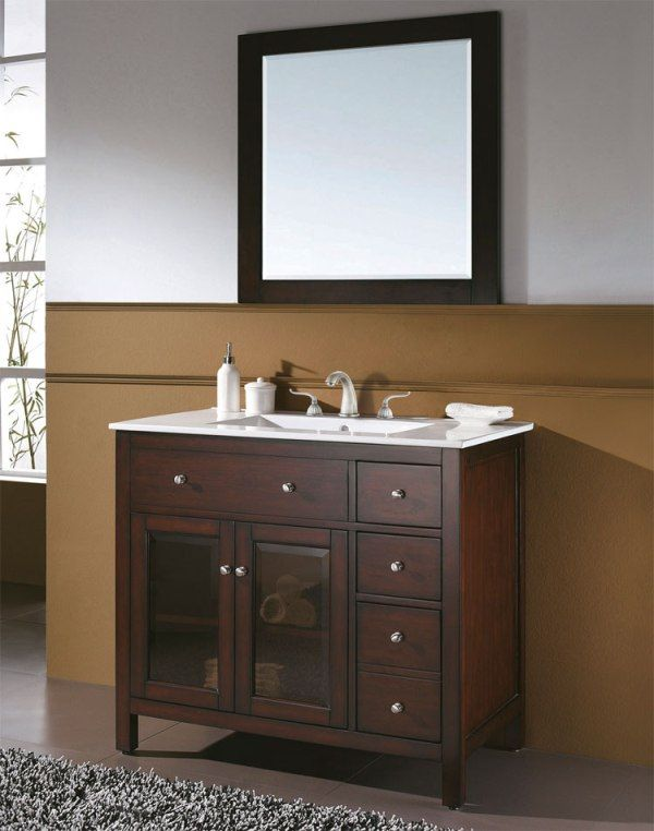 Bathroom Size 36 Inch Bathroom Vanity With Mirror And A Few Other