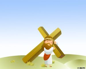 jesus crucifixion powerpoint template | catholic | pinterest, Powerpoint templates