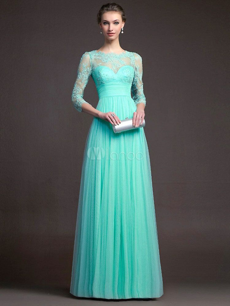 7df38d039e7 Red Maxi Dress Long Sleeve Lace Illusion Sweetheart Long Prom Dresses For  Women - Milanoo.