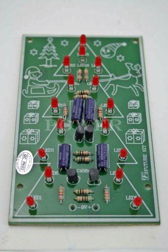 fa140 flashing christmas tree light 16 led electronic project circuit board kit ebay
