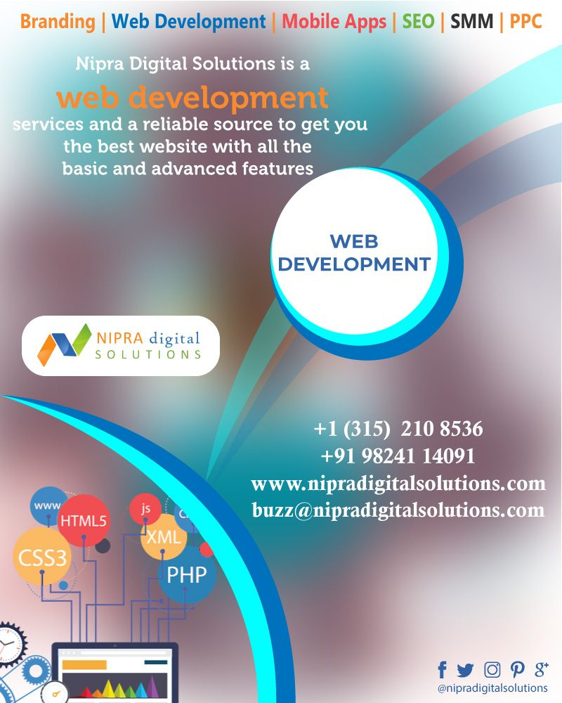 Nipra Digital Solutions Web Development Services And A Reliable Source To Get You The Best Website With All The Basic A Web Development Development Solutions