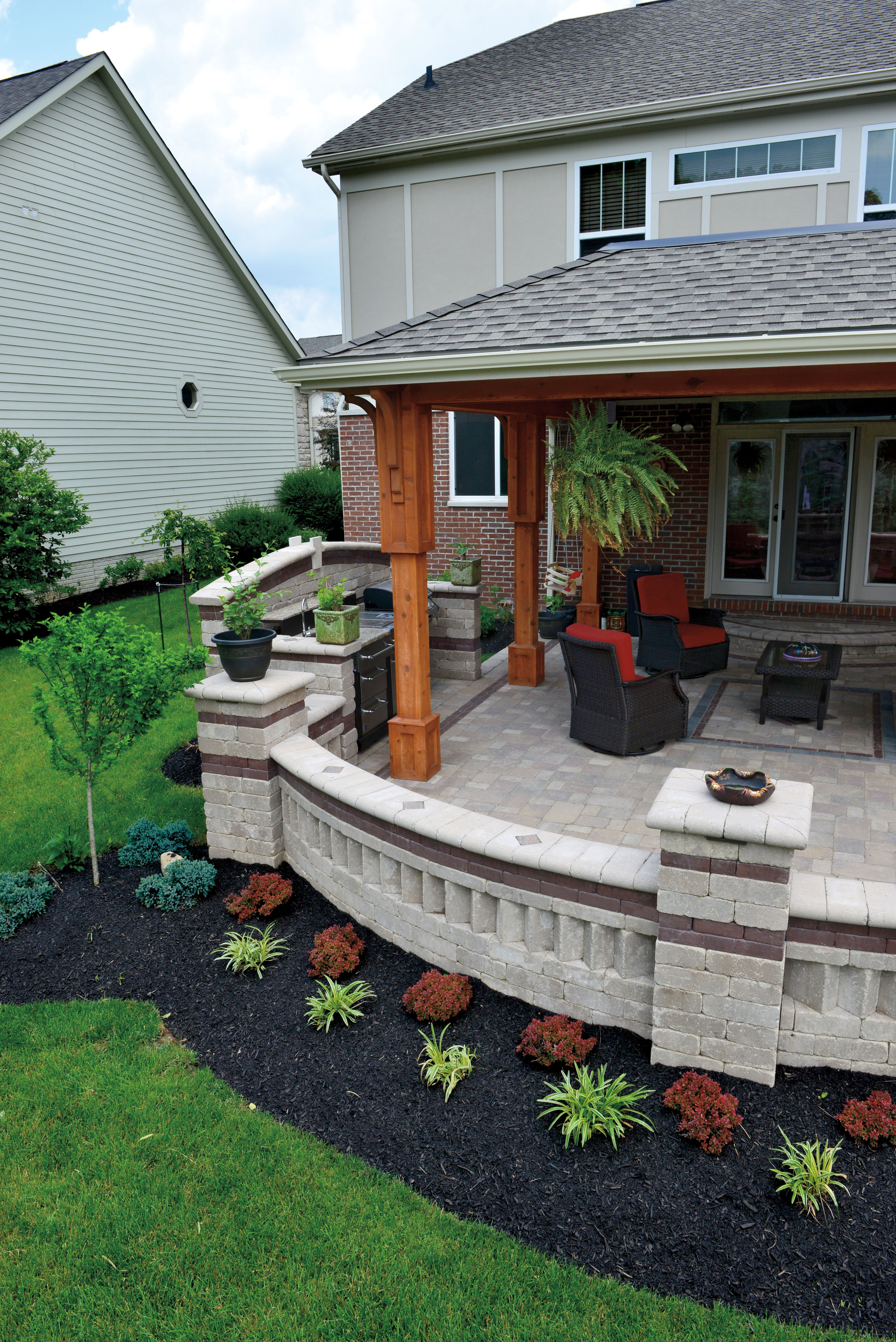 brussels block paver patio and brussels dimensional wall photos backyard patio patio design patio deck designs