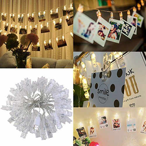Outdoor Décorative Lighting - LEDMOMO 40 LED Photo Clip String