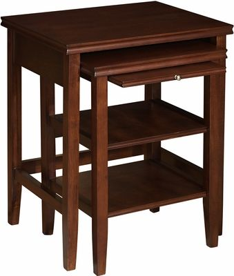 Powell Shelburne Cherry 2 Piece Nested Tables   998 699   Click To Enlarge