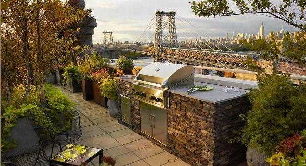 Außenküche Mit Grill : Außenküche grill bereich garten outdoor küche outdoor küchen