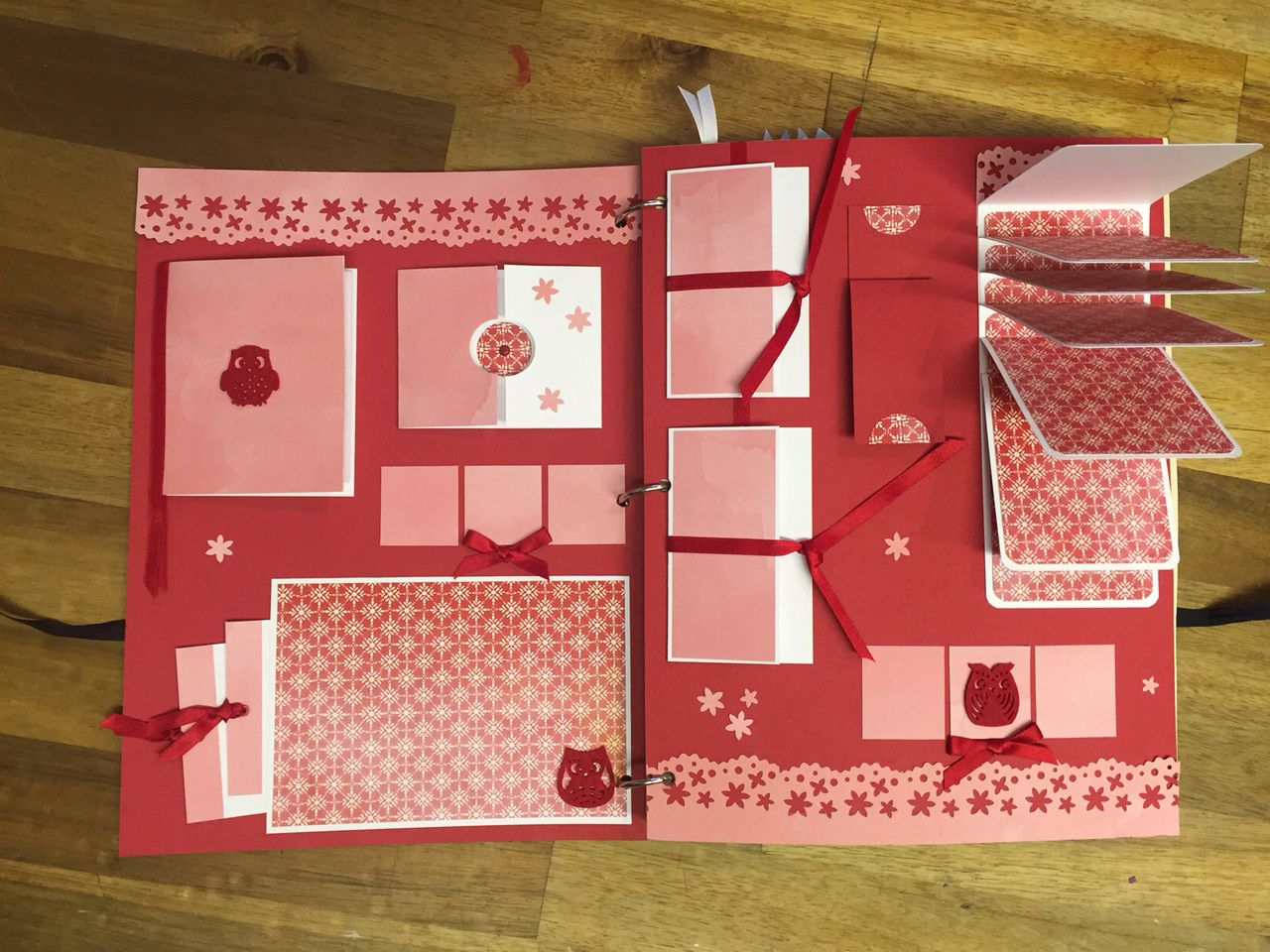 Interactive scrapbook album at the scrapbooker mini albums