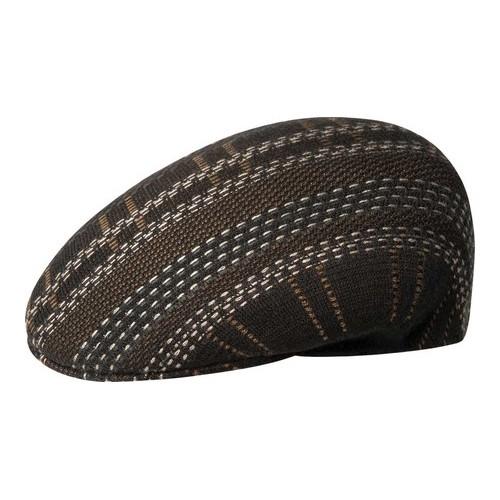5c89404da3210 Men s Kangol Pixel Plaid 504 Flat Cap - Espresso Hats