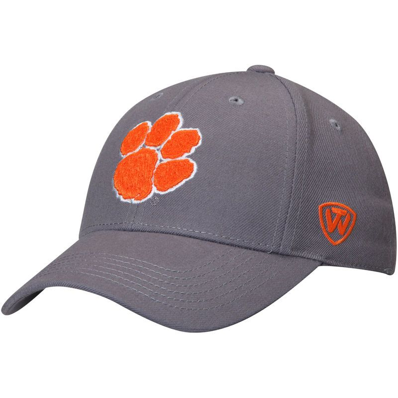 Clemson Tigers Top of the World Dynasty Fitted Hat - Gray
