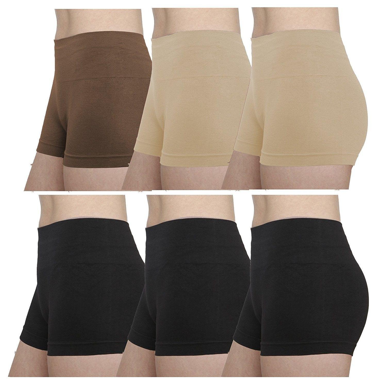 8ebc9cab3a Women's Clothing, Lingerie, Sleep & Lounge, Lingerie, Panties, Boy Shorts,  Seamless Stretch Panties - High Waist - C6189ZZQKRM #women #fashion  #clothing ...