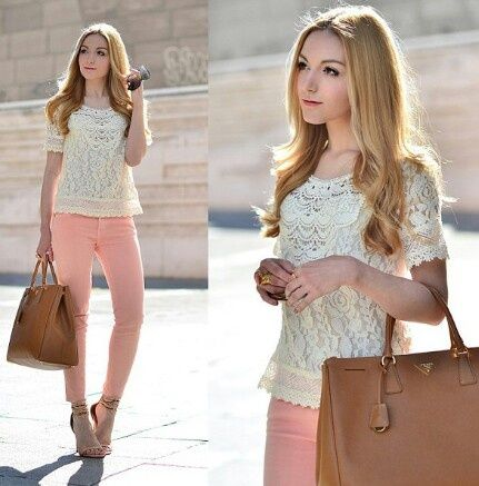 calça colorida look
