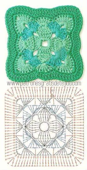 La mejor colección de grannys crochet o cuadros de abuelita, para ...