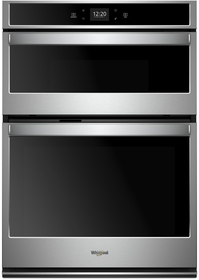 Whirlpool Woc54ec0hs 30 Inch Smart Combination Wall Oven With Frozen Bake Technology Temperature Sensor Multi Step Cooking Rapid Preheat Keep Warm Setting Sta In 2021 Combination Wall Oven Wall Oven Steam Oven
