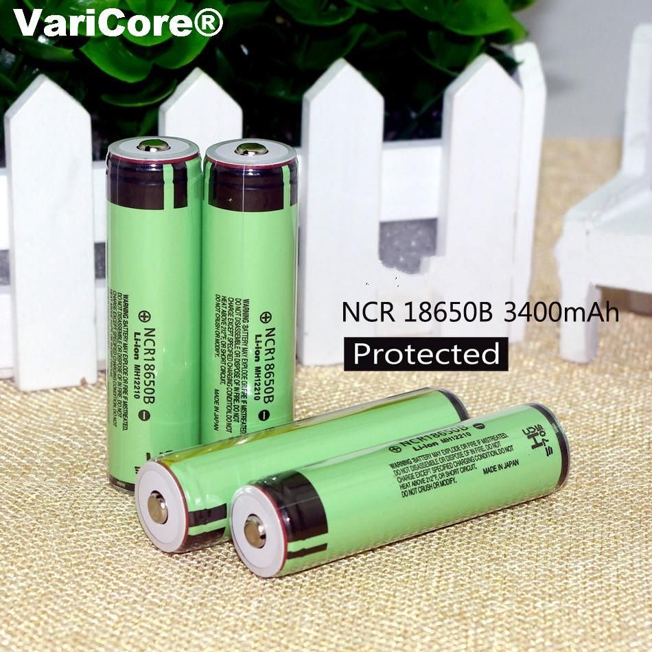 4 Pcs Lot Protection New Original Ncr18650b 18650 Li Ion Rechargeable Lithiumion Batteries With Circuit Board Pcb Battery 3400 Mah 37 V For Panasonic Flashlight
