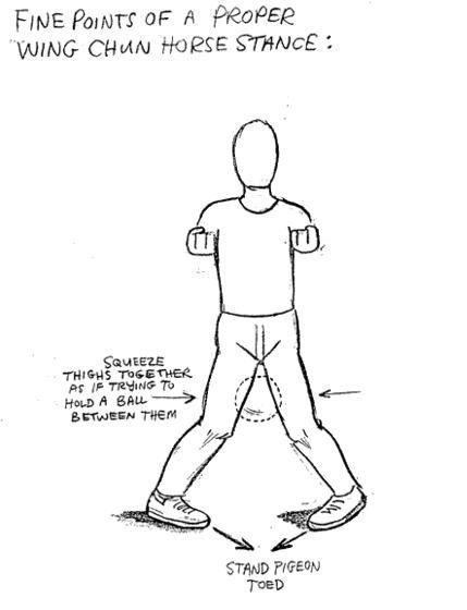 Horse Stance Diagram