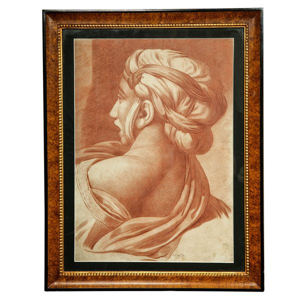 OnlineGalleries.com - A Large 18th Century Red Chalk Sanguine Drawing by Nicolas Ruyssen