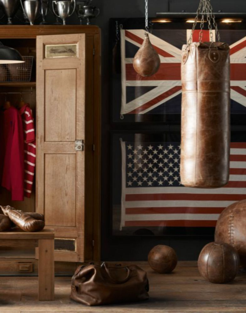Awesome Vintage Leather Punching Bag