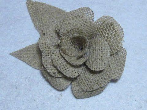 como hacer una rosa de tela // fabric flowers roses // dia del