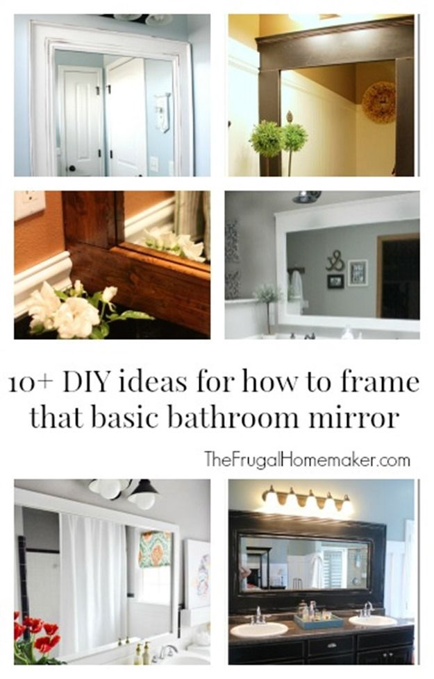 Best Photo Gallery For Website  DIY ideas for how to frame that basic bathroom mirror