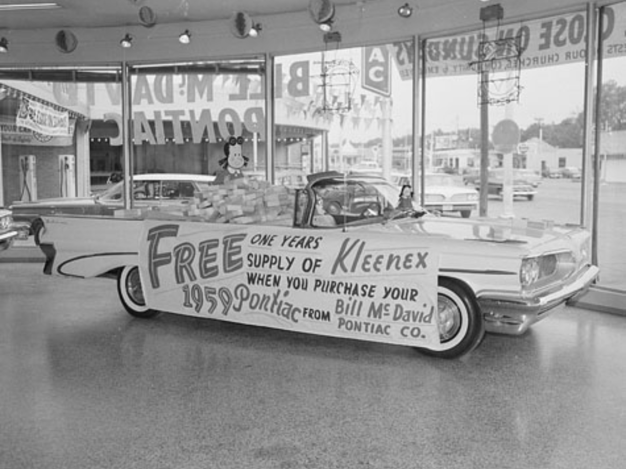 1959 Bill Mcdavid Pontiac Co Dealership Showroom Fort Worth