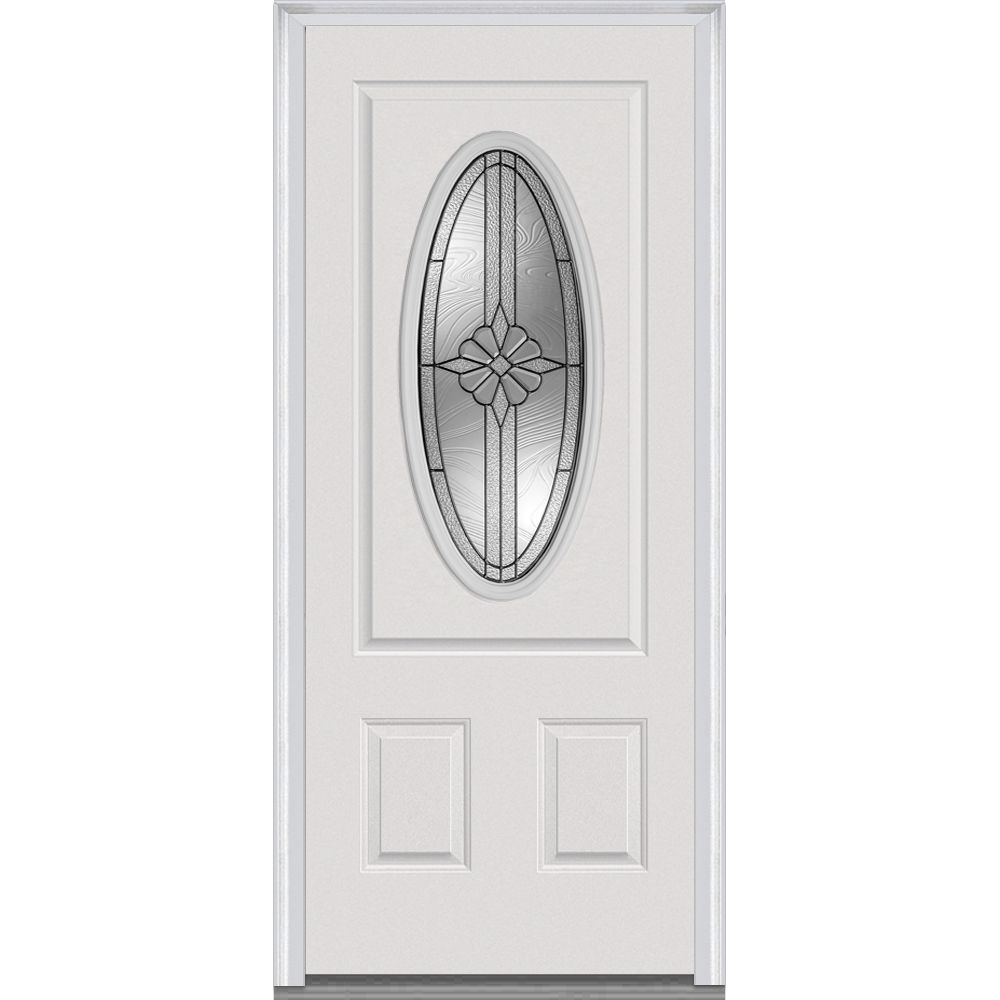 Builddirect Doorbuild Dahlia Collection Fiberglass Smooth Prehung Door Mmi Door Prehung Doors Steel Front Door