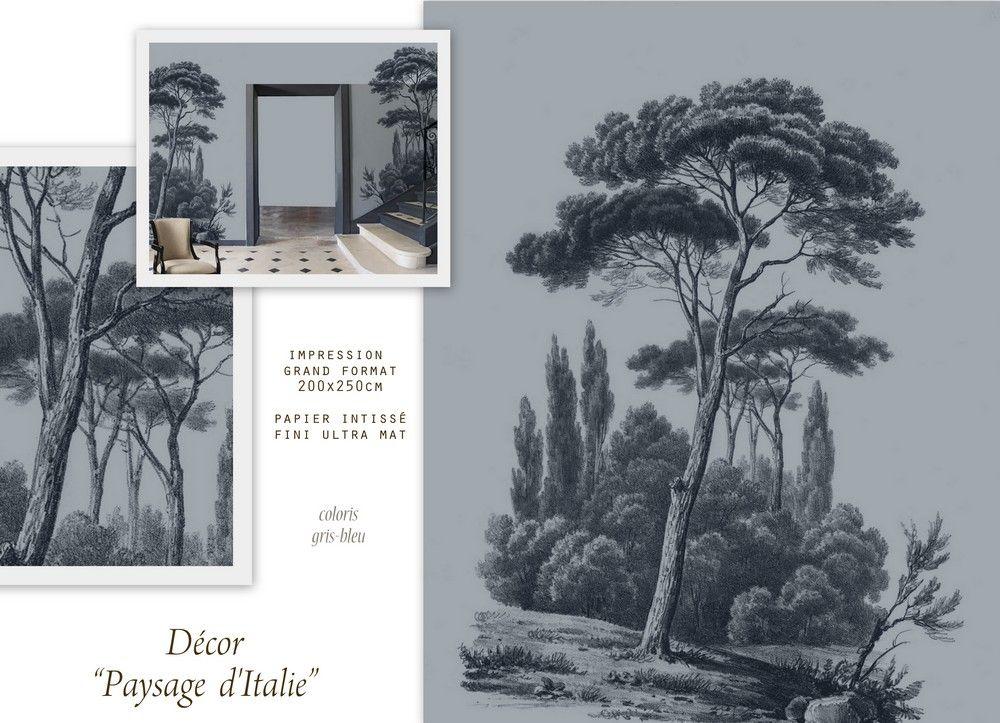 Ananbô: Paysage d\'Italie, papier peint panoramique imprimé ...