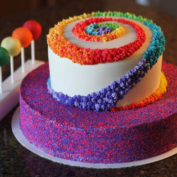 Pin by Grethel Cuevas on girl party Pinterest Cake Rainbow