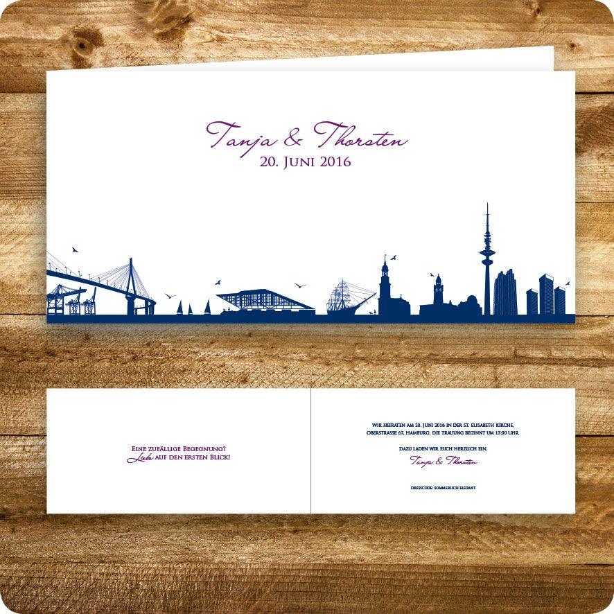 Perfekt Einladungskarte Maritim, Hamburg, Einladung Für Hochzeit, Individuell  Designed By Die Kartenfrau