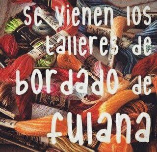 Taller de bordado en Belgrano, Buenos Aires #Argentina +info: fulanahandmade@gmail.com ✨