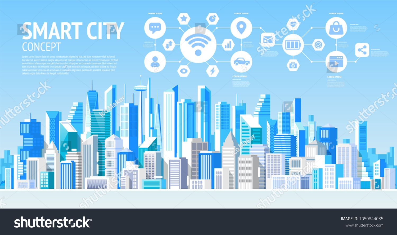 Isometric Smart City Vector Illustration 3d City Vector Smart City Isometric Design