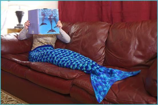 Crochet Mermaid Tail Afghan #Crochet #Mermaid #Afghan