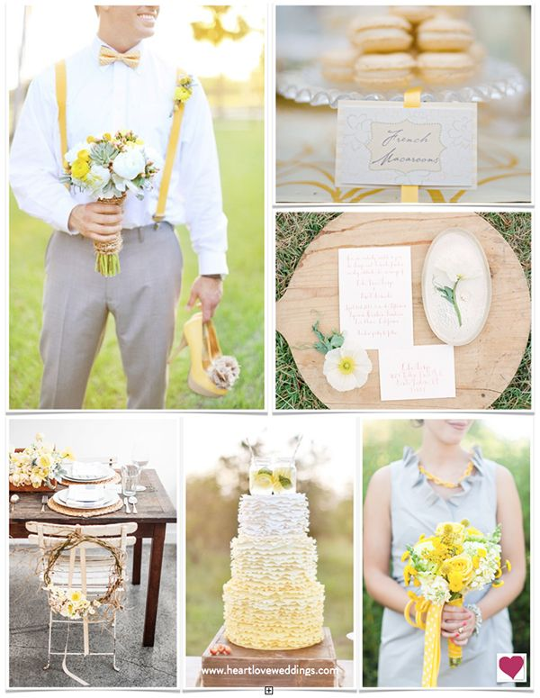 Rustic Yellow, Gray & Mint Wedding Ideas | Heart Love Weddings