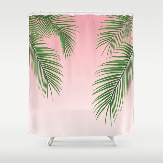 Palm Tree Palm Green Pink Gradient Tropical Summer Leaves