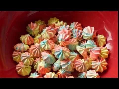 разноцветное пирожное-безе - YouTube (с изображениями ...