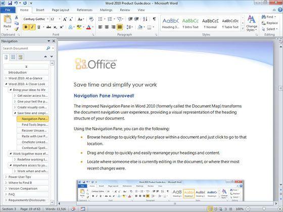 Microsoft Word 2010 Screenshots Microsoft Word 2010 Microsoft Office Microsoft