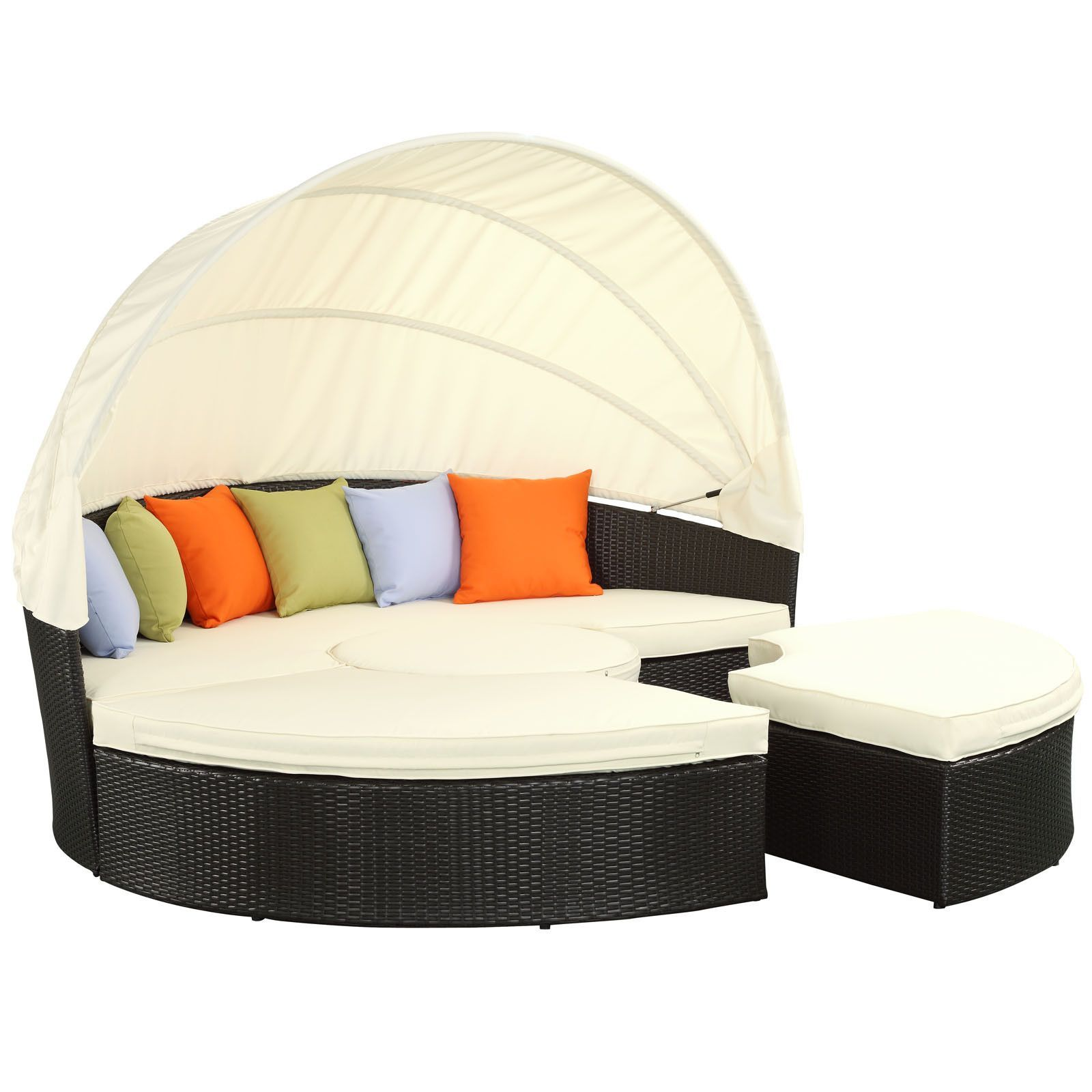 Modway Quest Canopy Outdoor Patio Daybed