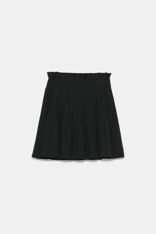 Pleated Mini Skirt View All Skirts Shorts Woman Zara United States Minirok