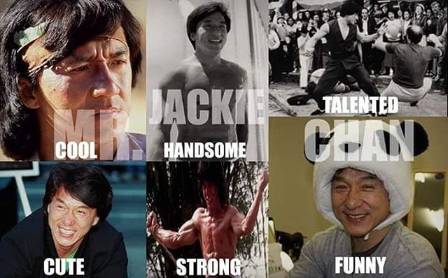 Cool handsome talented cute strong funny MR JACKIE CHAN !  #jackiechan #respect