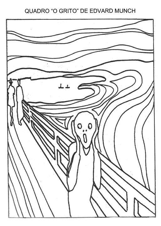 Arte Para Colorir O Grito Edvard Munch Jpg 514 722 Com