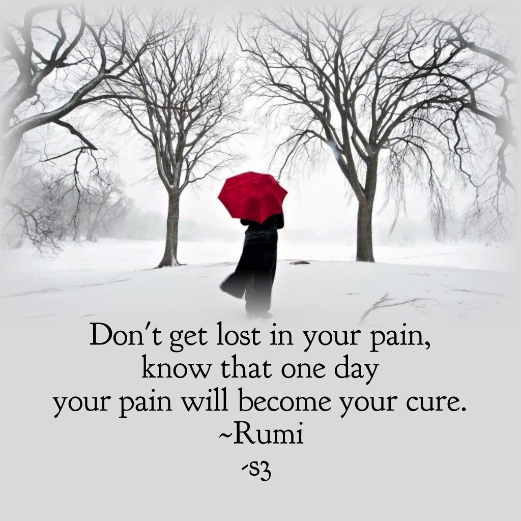 Pain becomes cure...