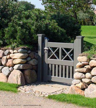 Photo of Garden gate SCHLESWIG – Den buede hageporten med tredimensjonal sal …