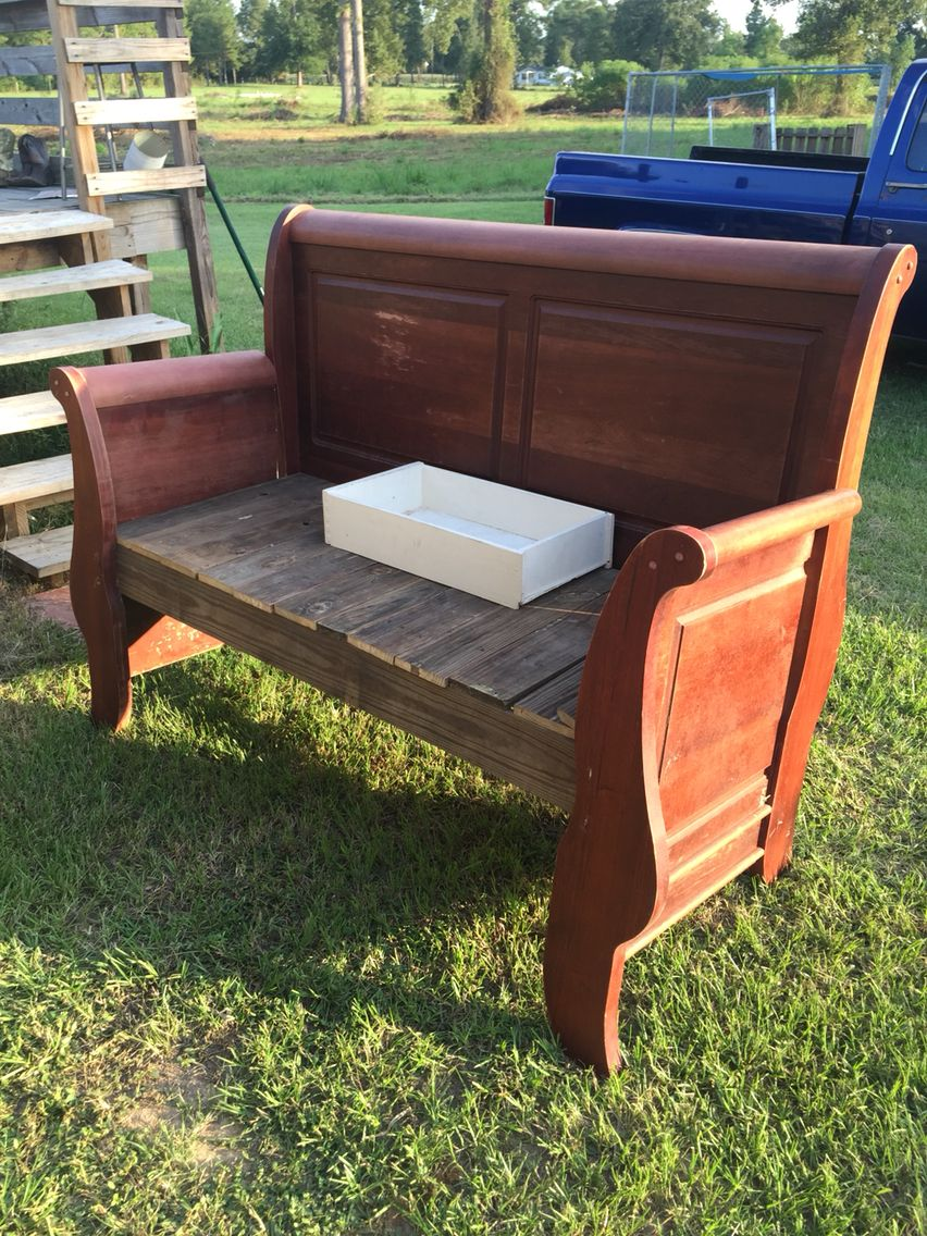Full Size Headboard Bench We Made Out Of A Curbside Find