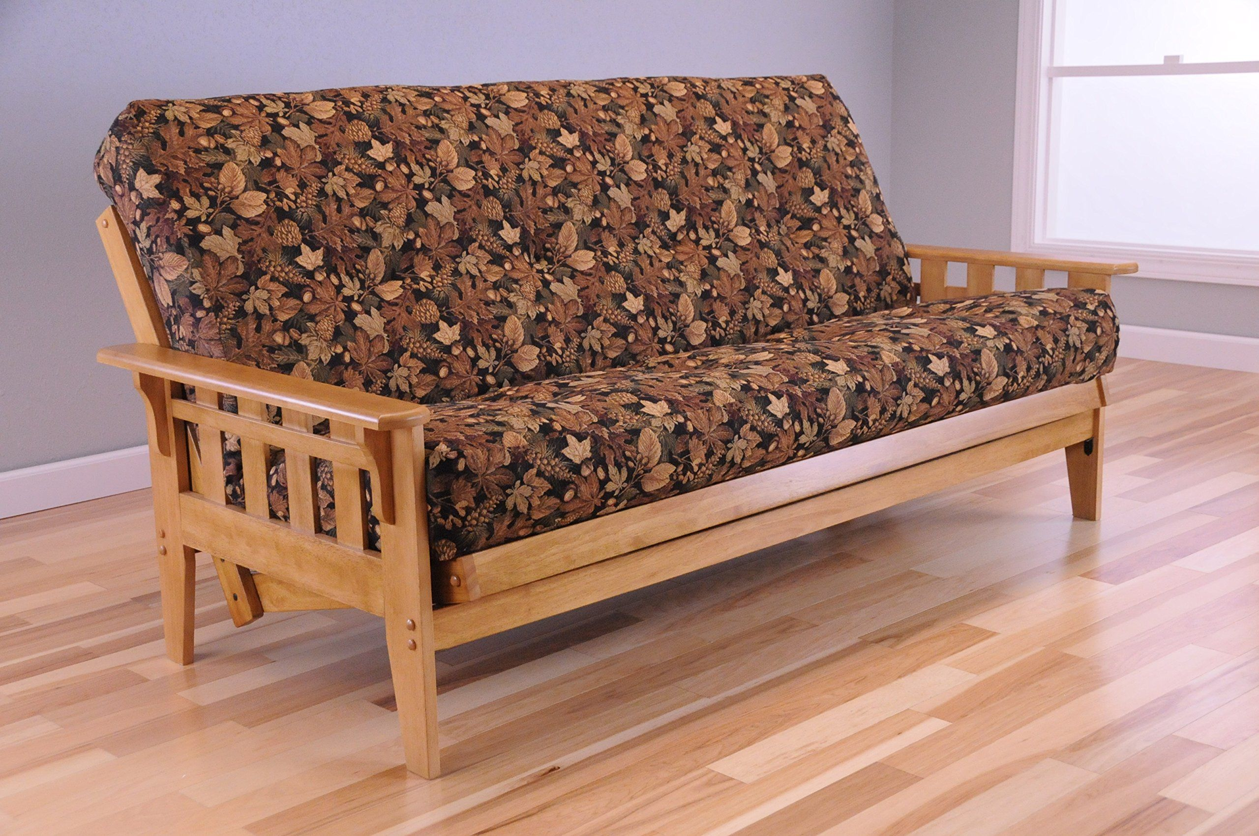 Wooden Futon Mission Style Maple Butternut Light Wood With Full Size