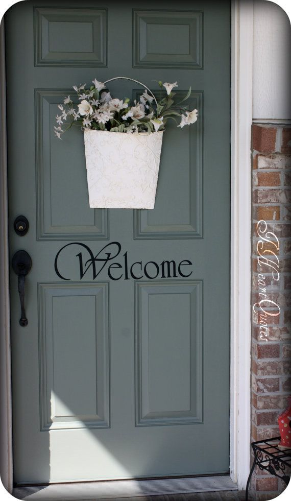 Welcome Sign For Front Door By Iheartquotes On Etsy 15