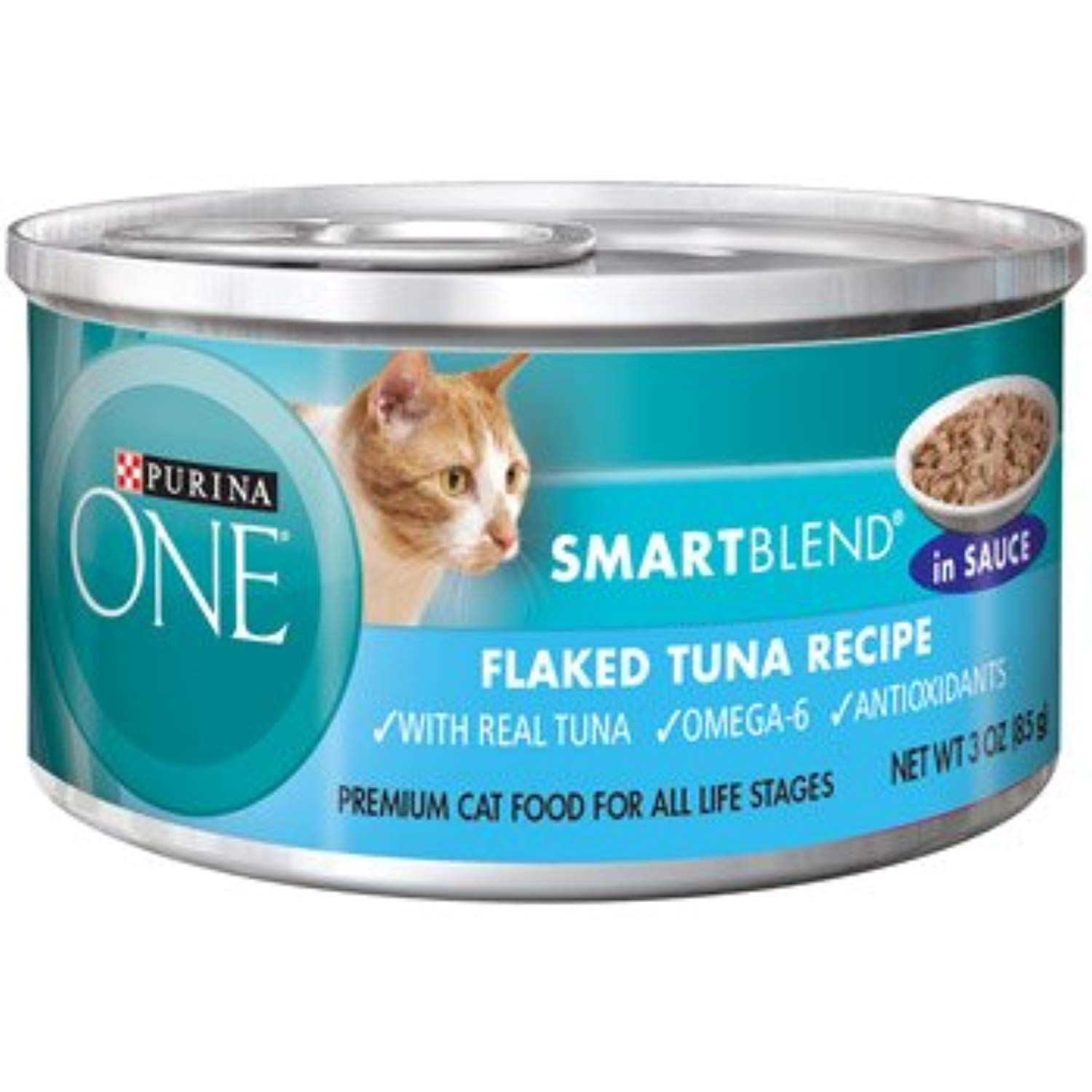 Purina ONE Smart Blend Flaked Tuna Braised in Sauce Canned