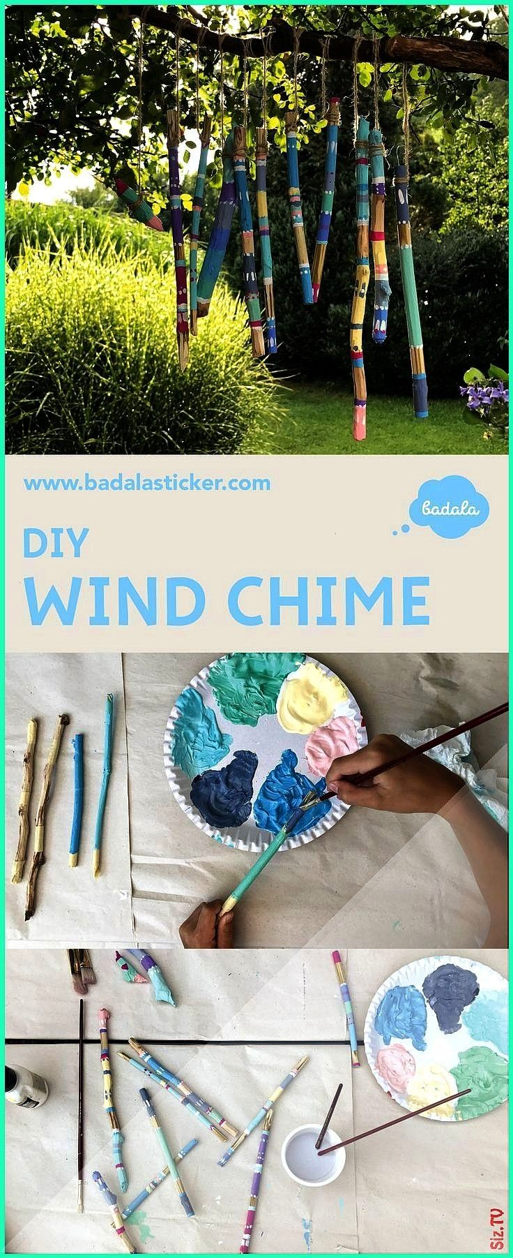 wind chime enjoy the time when your kids are busy with it Wind chime from wooden sticks that wood surfaces remain free wrap the s An easy wind chime enjoy the time when y...